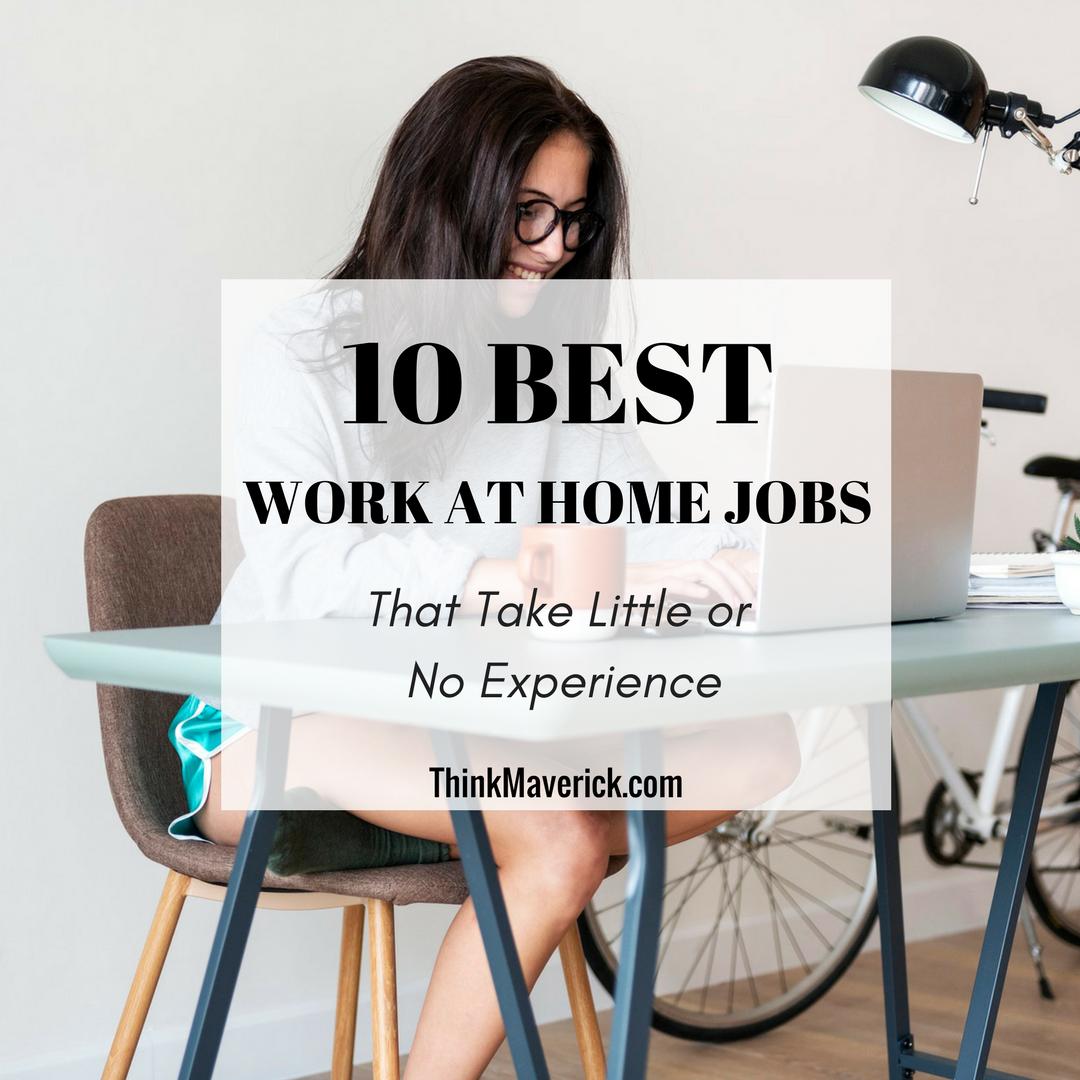 Legitimate No Experience Work Home Jobs
