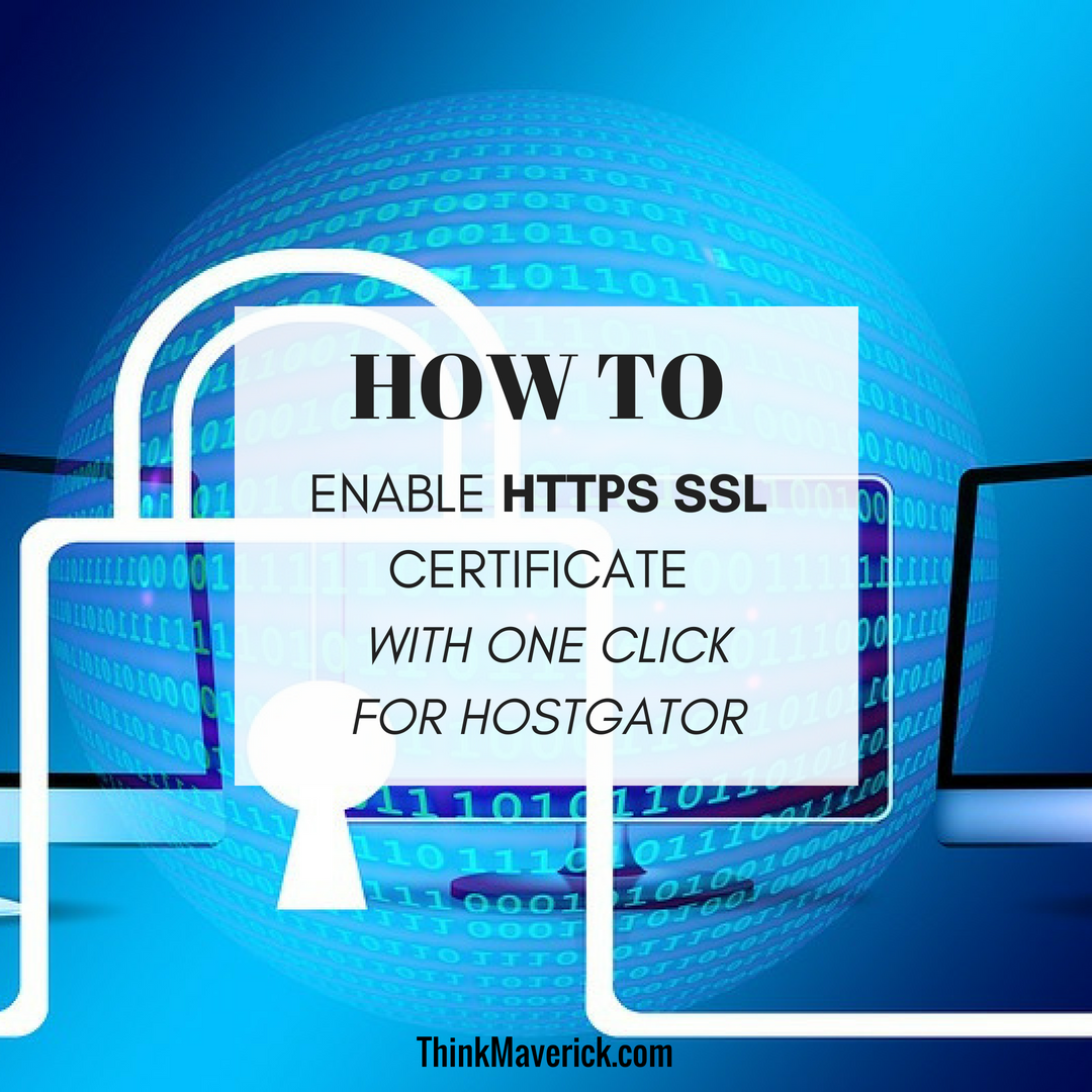 How To Enable Https Ssl Certificate With One Click For Hostgator