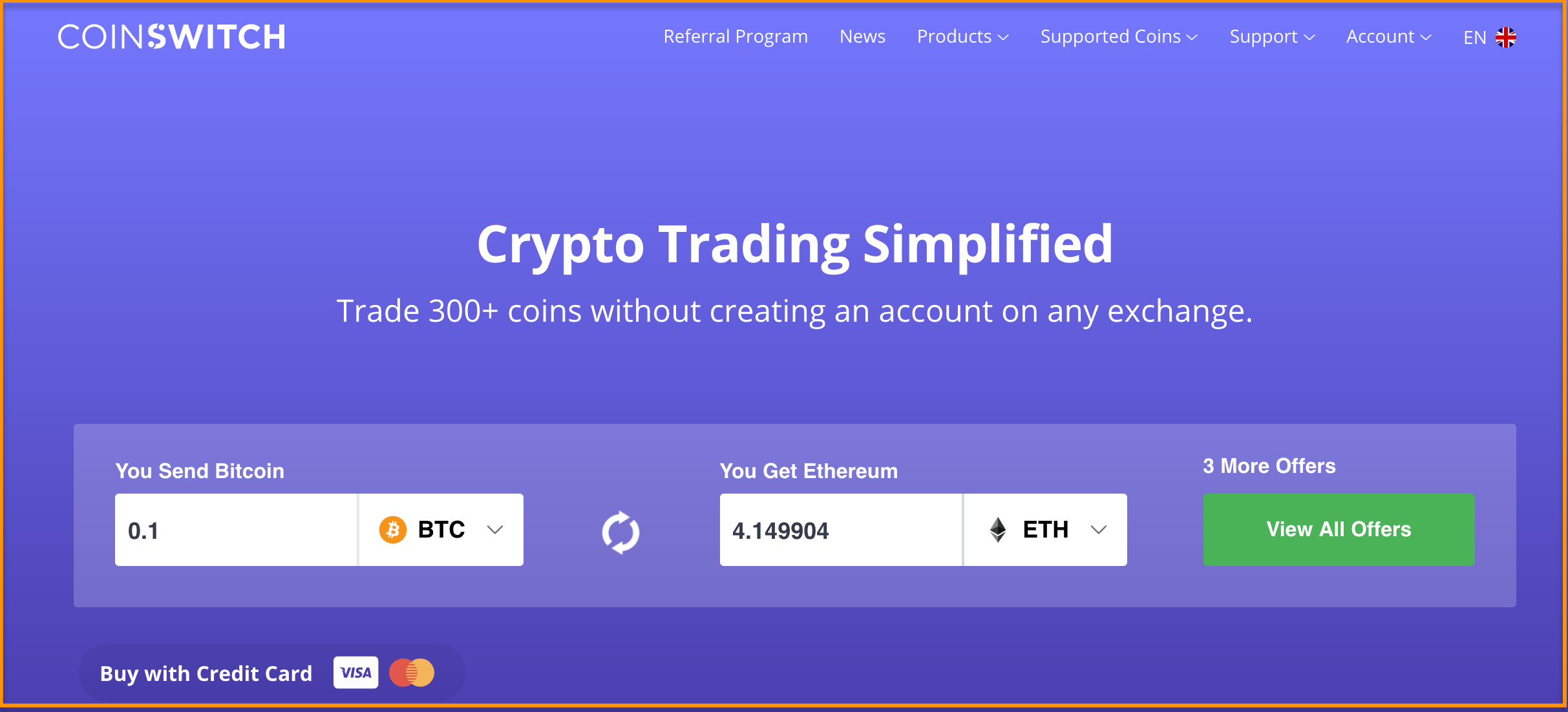 instant exchange crypto