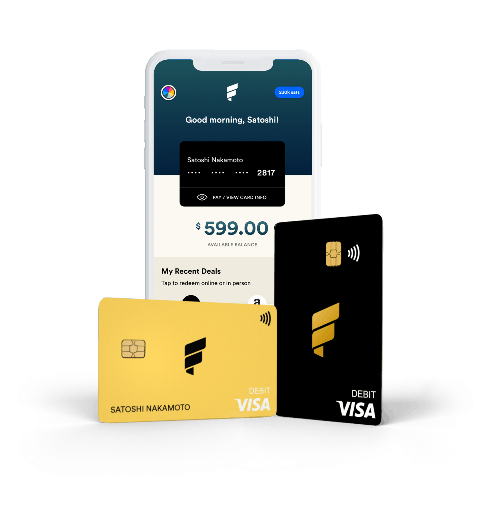 Bitcoin rewards debit card